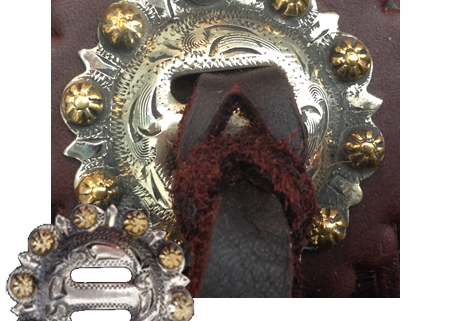 slotted horn steer conchos